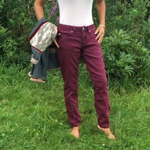 LC 2% spandex for comfort jegging feel.